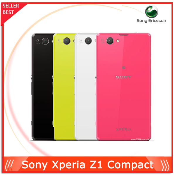 "Sony Xperia Z1 Compact D5503 Original Unlocked Mobile phone 4.3"" GSM 3G&4G Android Quad-Core 20.7MP WIFI GPS 2GB RAM 16GB ROM(China (Mainland))"