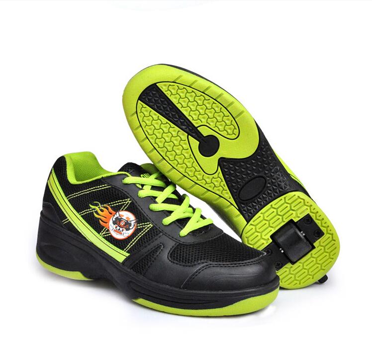 Heelys skate children boys girls wheel shoes child heelys EU size 33-41 roller kids sneakers TX134