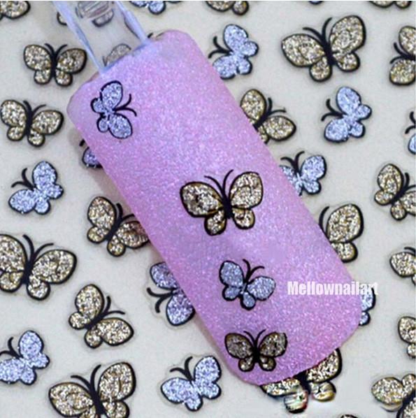 3D Butterfly Nail Art Shinning Stickers DIY Nail Sticker Nail Art Accessories