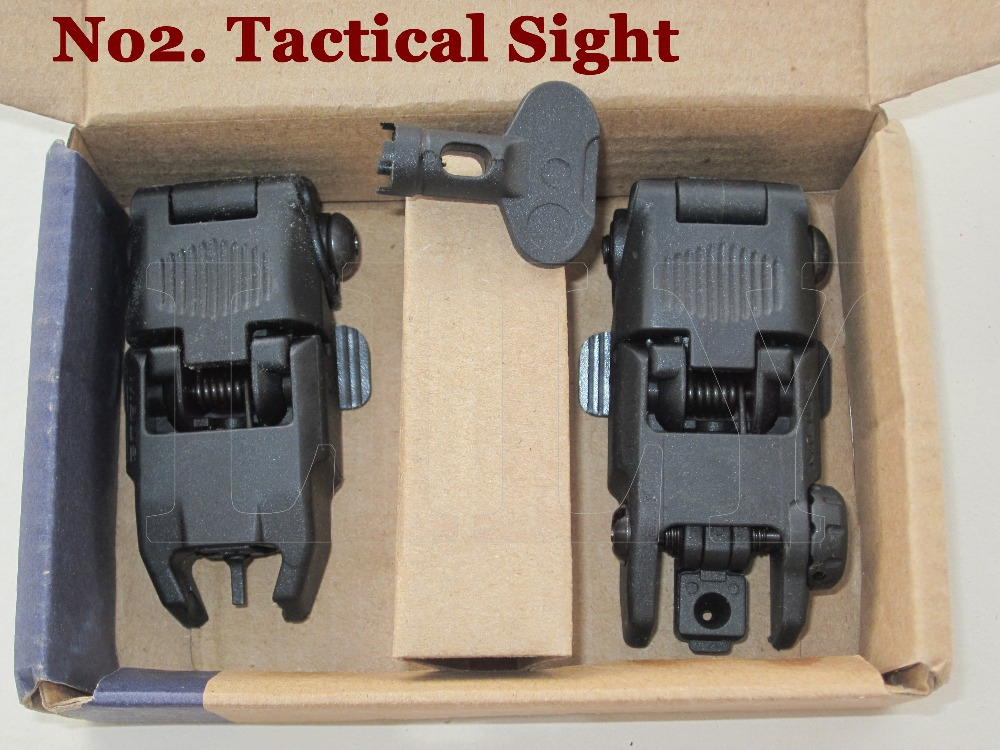Free Shipping Hunting Tactical Gen 2nd Front and Rear Folding Back up Shooting Sight Scope with