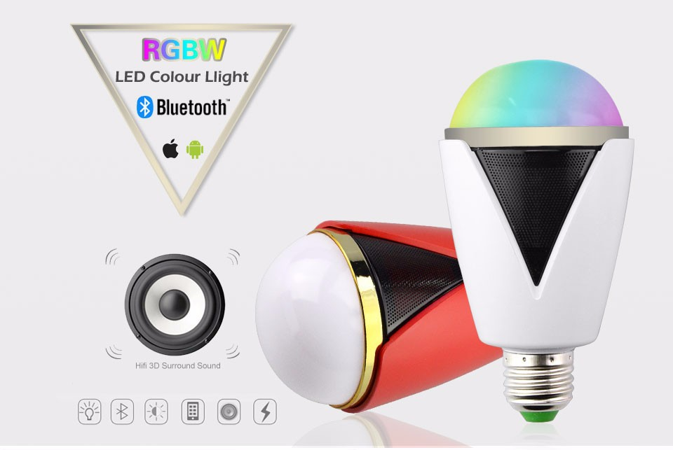 rot 5w e27 rgbw gl hlampe bluetooth app led lampe bulb mit. Black Bedroom Furniture Sets. Home Design Ideas
