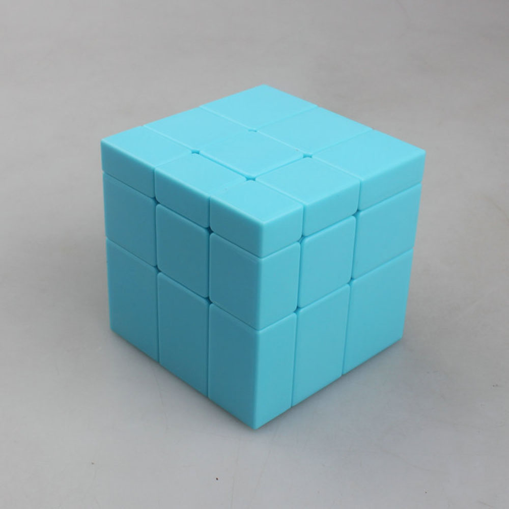 MirrorBlocK free stickers third-order magic cube Sky blue 57mm Cubo Magico Puzzle Speed Classic Toys Learning & Education(China (Mainland))