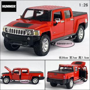New 1:26 Hummer H3T 2009 Diecast Model Car With Box Orange Toy Collection B359(China (Mainland))