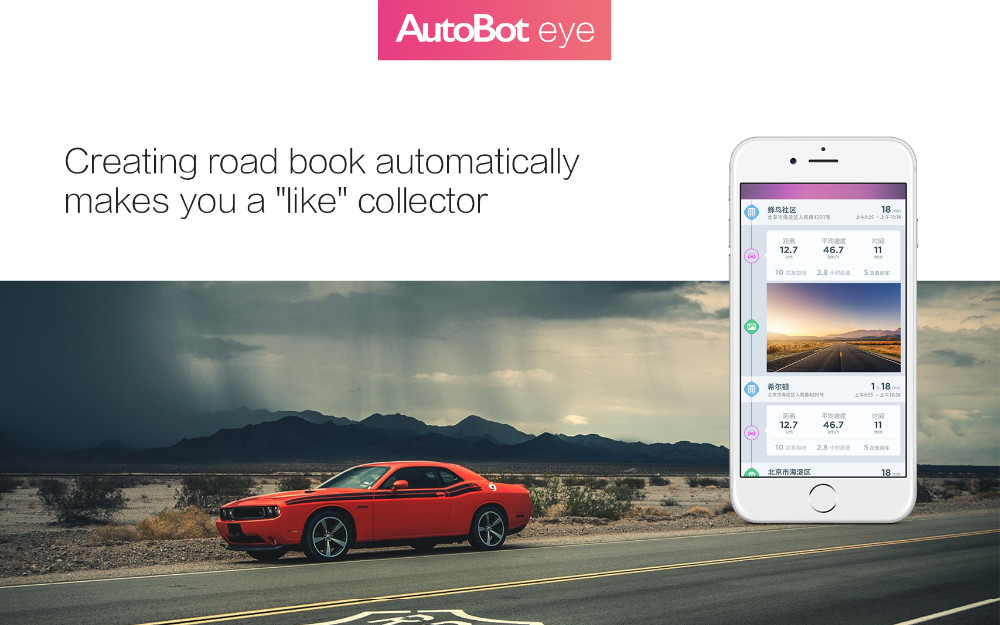 AutoBot Eye Smart Mini 1080P Full HD dashcam connect met Smartphone!
