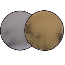 110CM  2 IN 1 Round  Flash Photo Studio collapsible light  reflector disc silver gold free shipping
