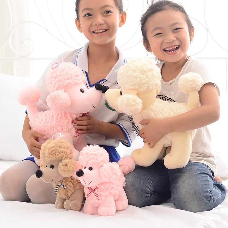 30cm Lovey Kawaii dog Little Poodle Pink / beige Plush Toys Small Stuffed Animals Plush Doll birthday Gift For Girls Kids WJ160(China (Mainland))