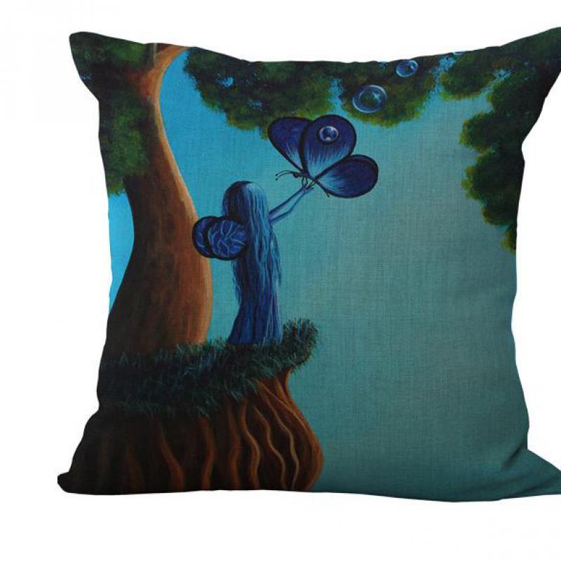 Fashion Cartoon Fantasy Forest Cotton Sofa Decorative Cushions Cartoon Style Throw Pillows Car Home Decor Cushion Decor Pillow(China (Mainland))