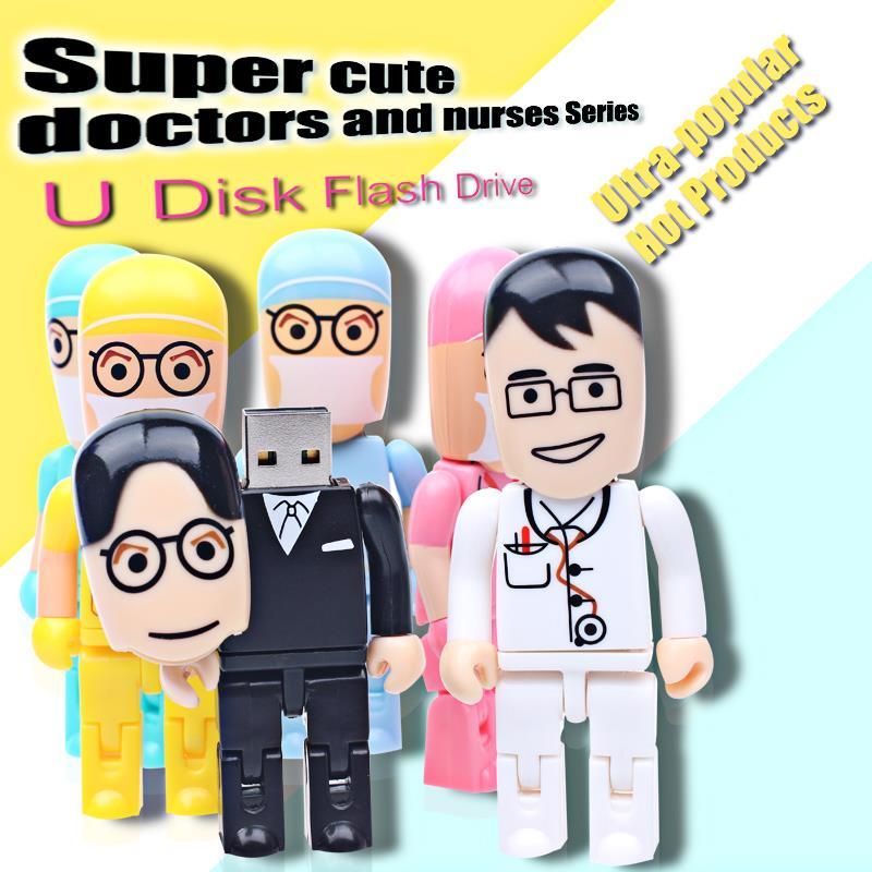 New Doctor and Nurse Series USB Flash Drive usb2.0 pen drive 32gb memoria usb stick 16gb pendrive 32gb Flash Card mini gift(China (Mainland))