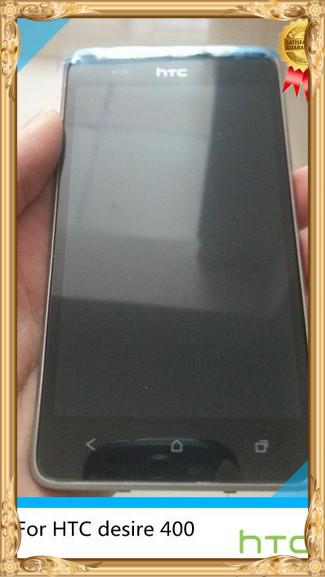 Оригинал ~ белый полный ЖК-дисплей и Сенсорный экран digitizer Ассамблеи +рамка для НТС Desire 400