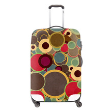 Fashion Colorful Circle Elastic Luggage Cover Waterproof Suitcase Cover Apply To 18-30inch Travel Case Womens Travel Accessories(China (Mainland))