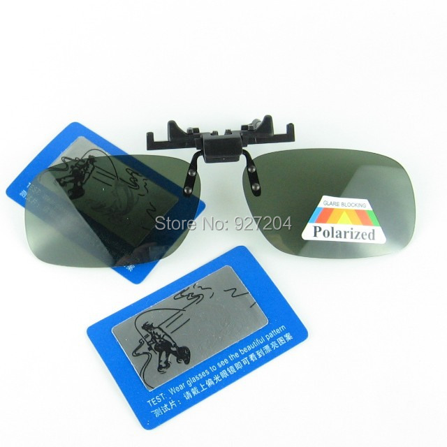 Middle Size Driving Partner Clip-on Sunglasses Clamp on Optical frame With Polarized UV400 Dark Green Lenses Eyewear Accessory(China (Mainland))