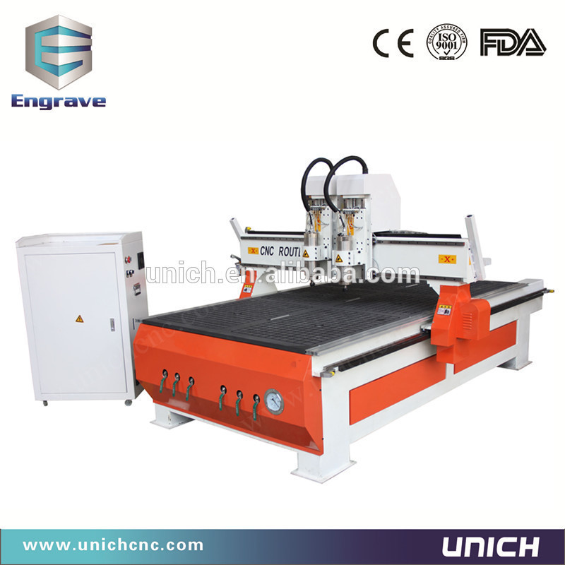 Two heads!!! cnc router 1325 wood low cost(China (Mainland))