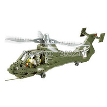 Free shipping KAZI 431pcs Military Series Field forces helicopter construction building bricks toys