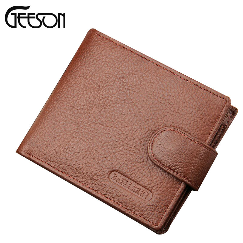 2016 NEW Baellerry Business Standard Wallet Short Designer Men's Wallets Genuine Leather Handy Men Purse For Money MW033-HD(China (Mainland))