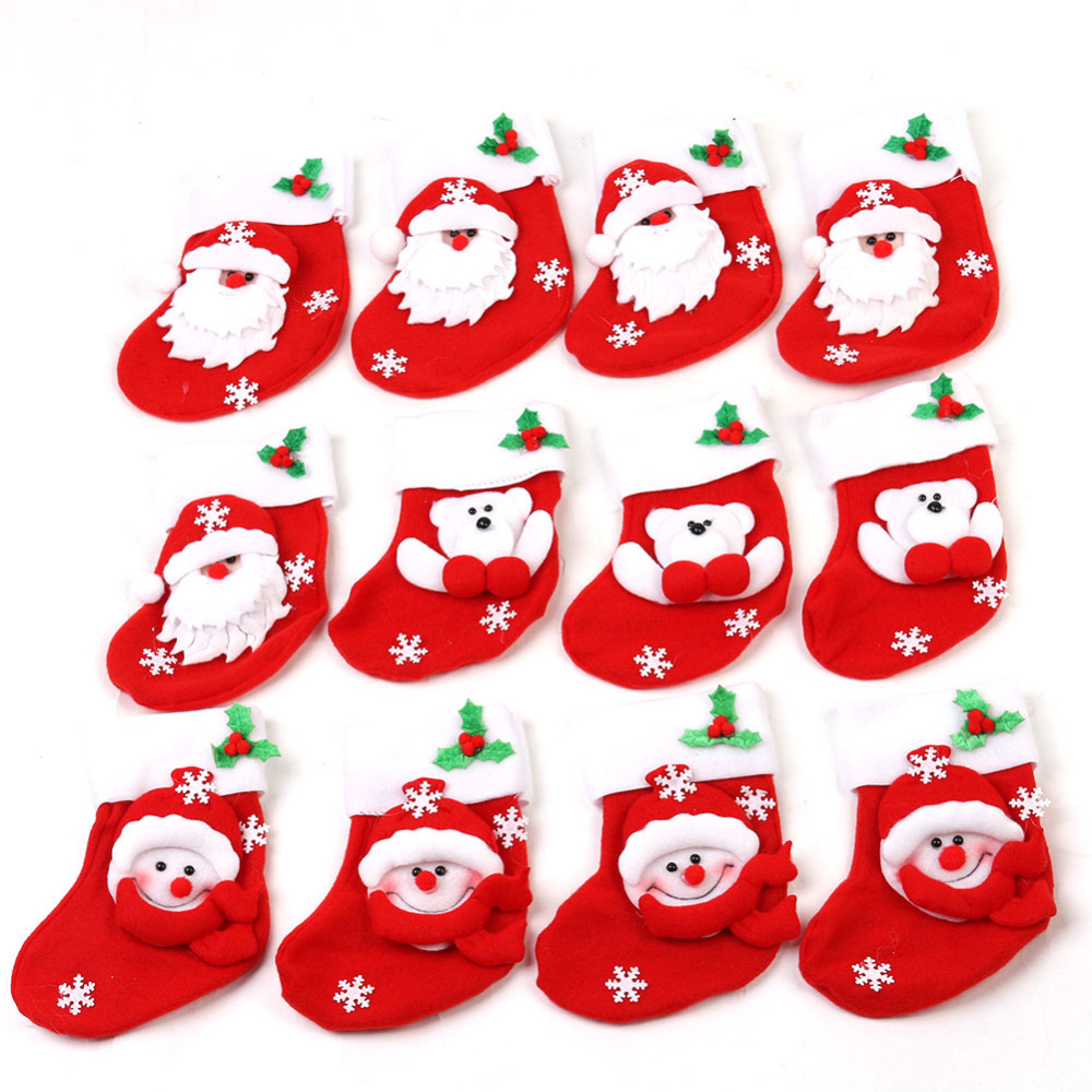 12pcs festive party supplies christmas stocking christmas for Christmas decoration suppliers