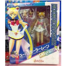 Mifen Craft Anime Sailor Moon Figures Tsukino Usagi Sailor Mars Mercury Jupiter Venus Saturn PVC Action Figure Toys Boxed