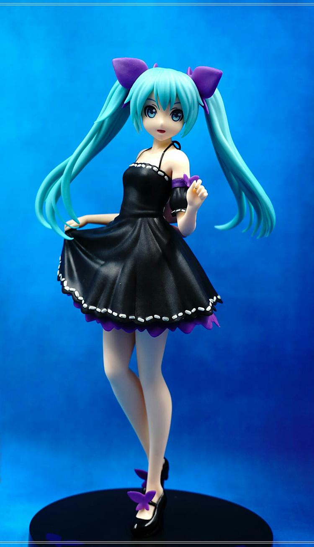 22CM Japanese original anime 1pcs figure Hatsune Miku action figure collectible model toys for boys(China (Mainland))