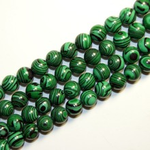 Buy Natural Stone Malachite Beads Stone Round Relaxed Branelli Sphere 4 / 6 / 8 / 10 / 12 MM Bracelet Strand Making Diy for $1.35 in AliExpress store