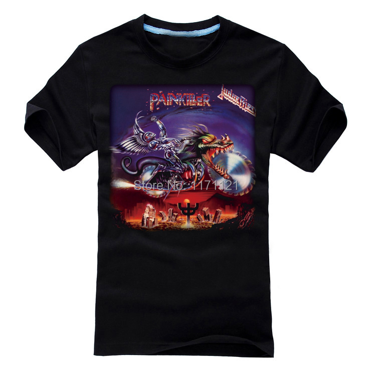 Free shipping Judas Priest Video Of The Week Hard Rock New Wave Of British Heavy Metal NEW BLACK T-SHIRT(China (Mainland))