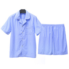 2015 Xia Jiqing new song Riel fashion comfortable striped pajamas men and women couple Pyjamas Set