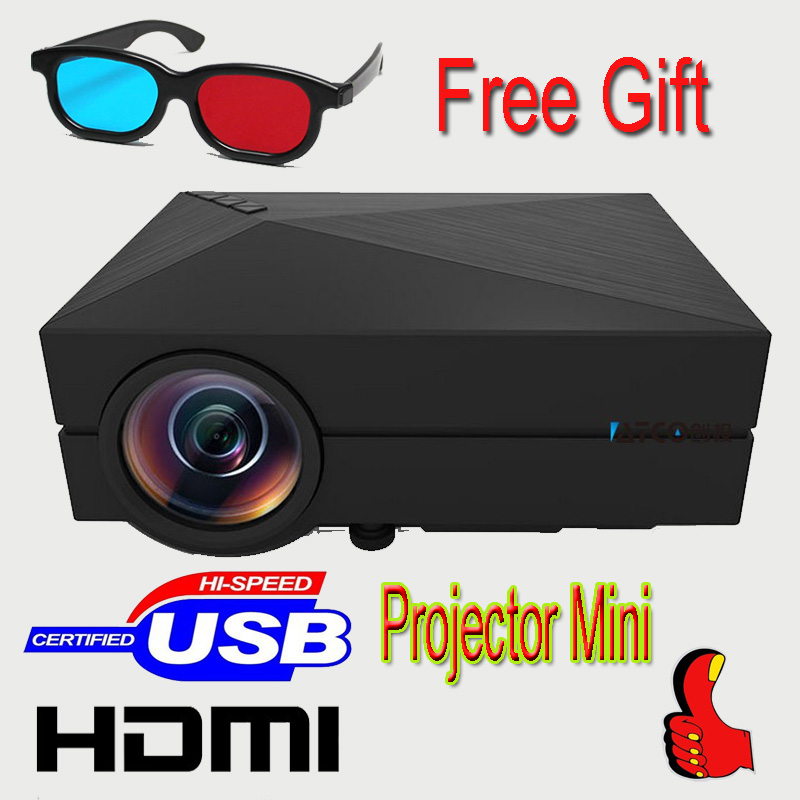 Free shipping Proyector MINI Portable Projector For Video Games TV Movie SD FULL HD Home AND OUTDOOR Theater FREE GIFT(China (Mainland))