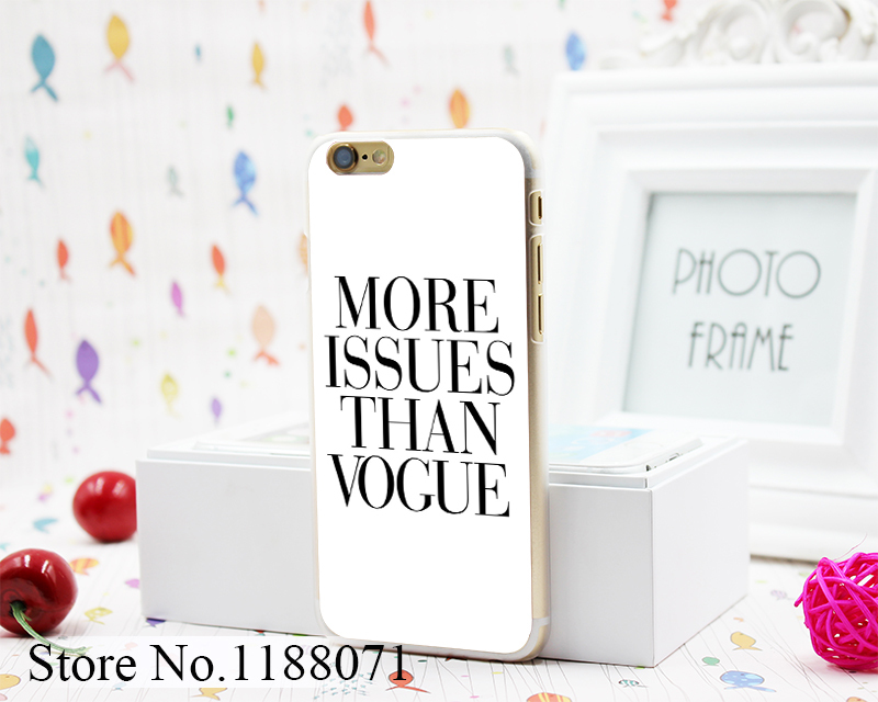 Brand New More Issues than Vogue Poster Design Hard Clear Skin Transparent for iPhone 6 6s 6+ 6 Plus Case Cover(China (Mainland))