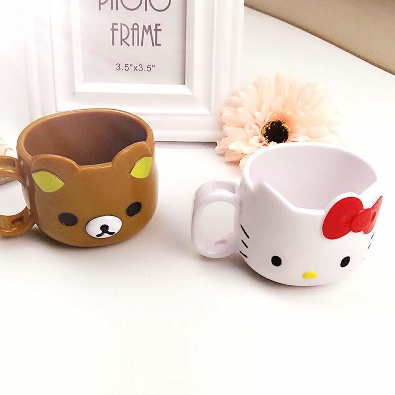 300ML Kawaii Hello Kitty Bear Water Cup Cartoon Mug Kids Novelty Coffee Cups Milk Tea Mugs(China (Mainland))