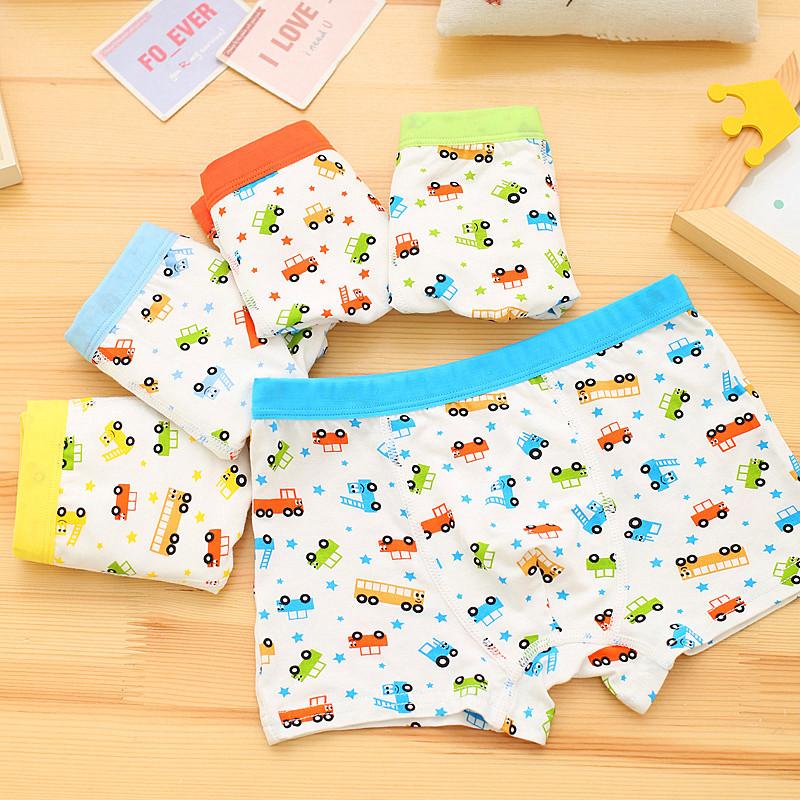 2016 Baby Boy Underwears Children Cotton Pants Kids Printed Cartoon Boy Boxer Baby Panties BU085 Children Briefs Clothes(China (Mainland))