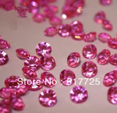 20Packs/Lot , 10000Pcs/Pack , Diamonds Wedding Table Scatter Crystals ,  Pink ,  Free shipping To USA/UK, Wholesale Price