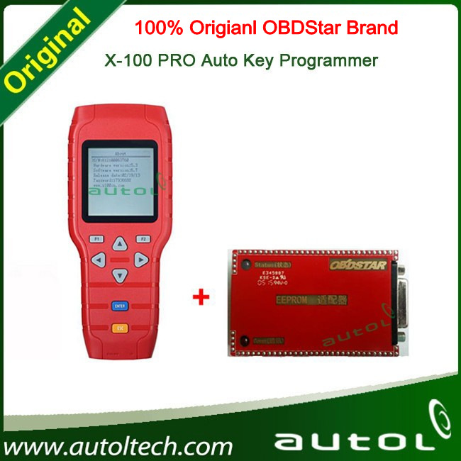 Original OBDStar Newest Version X-100+ X100 Pro Auto Key Programmer X-100 Pro Programmer With EEPROM Function DHL Free !(China (Mainland))