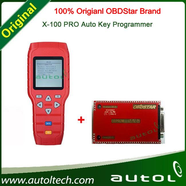 Original OBDStar Newest Version X-100+ X100 Pro Auto Key Programmer X-100 Pro Programmer With EEPROM Function DHL Free !(China (Mainland))