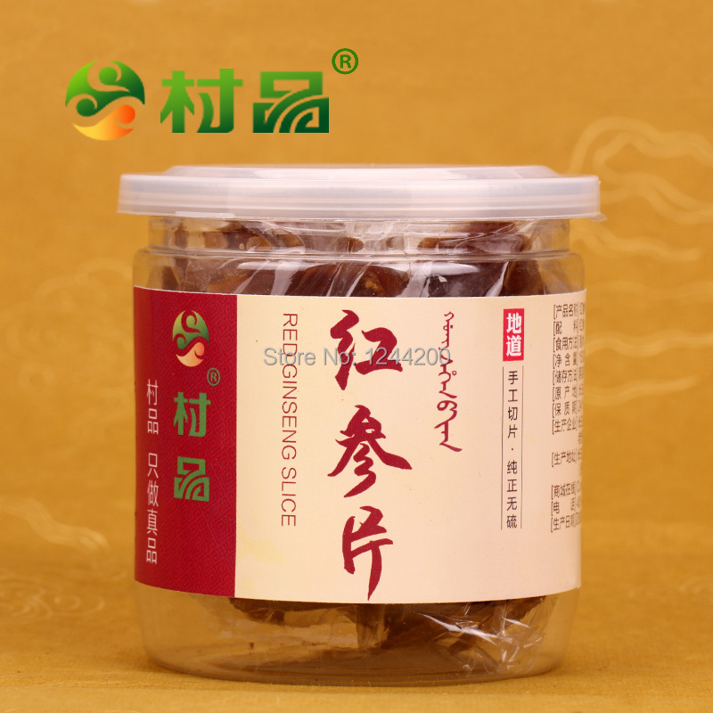 Гаджет  Wholesale Chinese Herbal Tea Changbai Mountain Fusong Red Ginseng Roots slices 150g, 8 Years Root, Free shipping None Еда