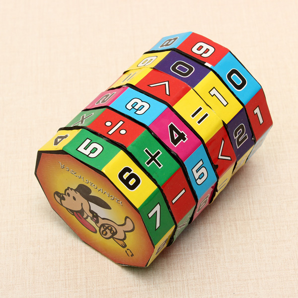 Puzzle Game Toys Children Intelligent Digital Cube Math Educational For Children Kids Mathematics Numbers Magic Cube Toy(China (Mainland))