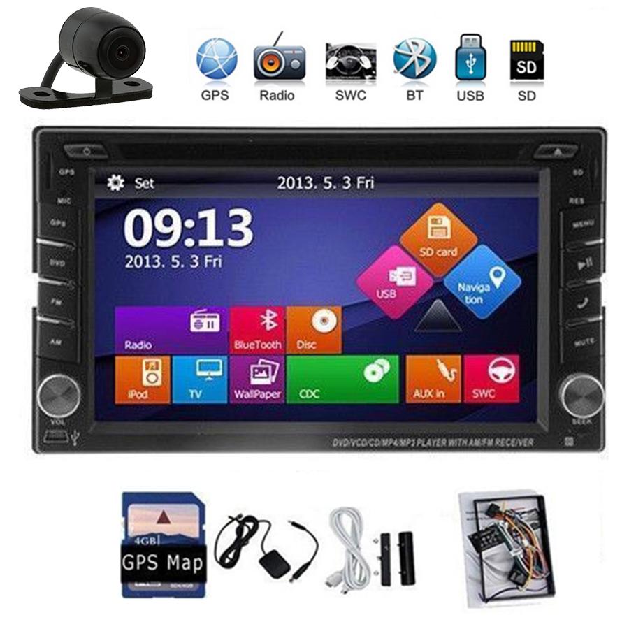 "Free Camera+GPS Card 2 Din Car Stereo GPS Navigation Car Radio Monitor Car DVD Player Headunit 6.2"" HD Touch Screen In Dash IPod(China (Mainland))"