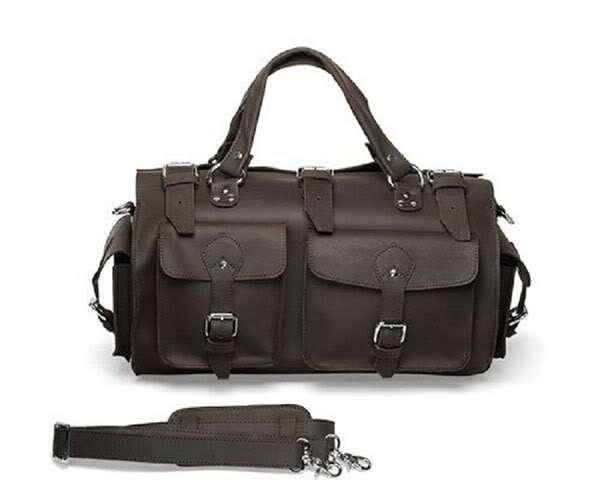 Free Shipping Vintage Crazy Horse Genuine Mens Travel Bags Messenger Totes Designer Handbags High Quality 2013  # 7094R<br><br>Aliexpress