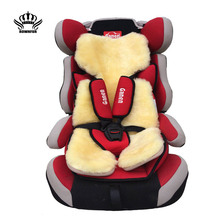 AUTOCROWN Baby fur Car Seat covers Natural sheepskin Very soft and warm Safety Child Seat cover immediately warmth and comfort(China (Mainland))