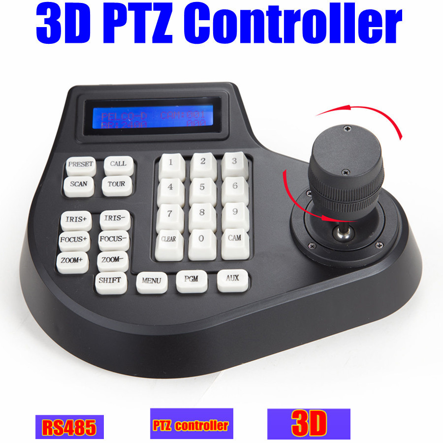 CCTV Speed dome camera LCD 1.5km 3D jostick ptz controller keyboard Pelco RS485 for ptz camera(China (Mainland))