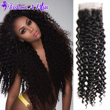 Capelli Hair Products Brazilian Kinky Curly Virgin Hair Lace Closure Unprocessed Virgin Brazilian Hair Human Hair Extensions