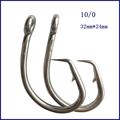 50pcs 10 0 Mustad Tuna Circle Fishing Hook Stainless Steel Tuna Circle Fishing Hook Barbed Hook