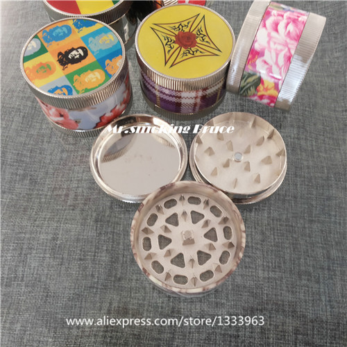 1pc 3 parts plastic zinc alloy metal herb smoking tobacco grinder crank shisha wood pipe cleaner