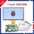 7 inch Raspberry Pi LCD Display 1024 600 TFT Monitor Screen with Drive Board HDMI VGA