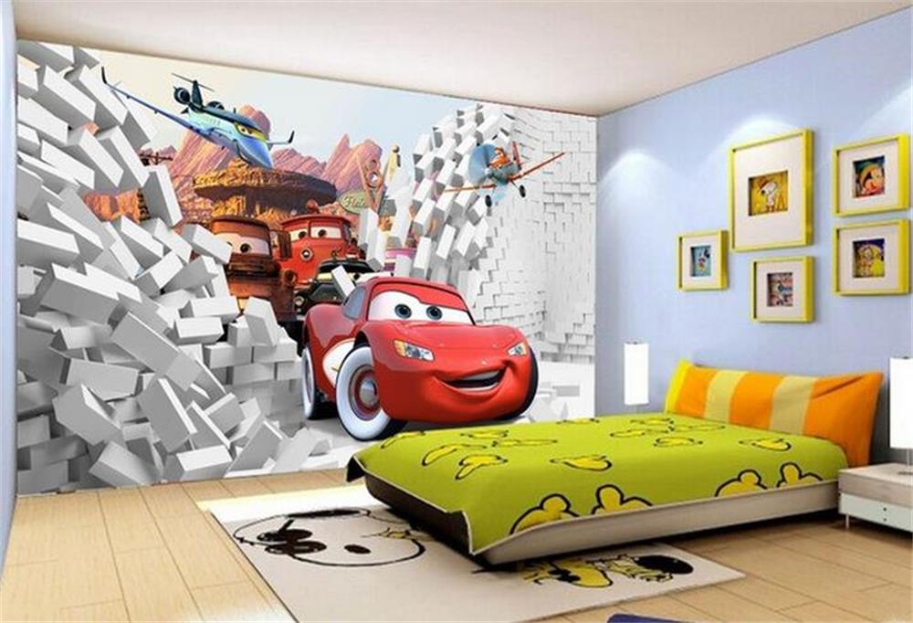 3d kids baby room wallpaper custom photo Non-Wowen mural sticker car broken wall painting sofa TV background Bedroom living room(China (Mainland))