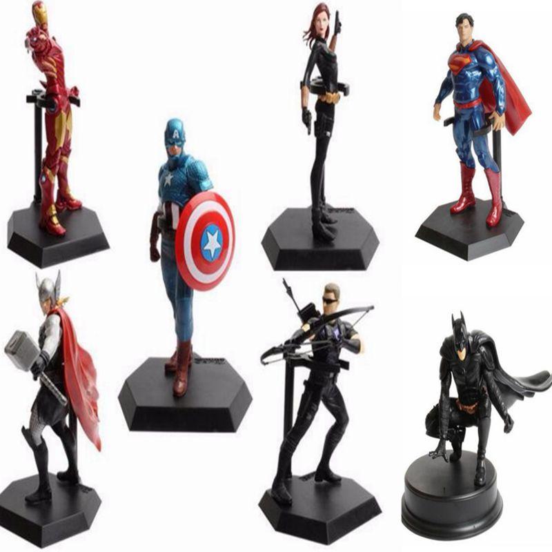 Marvel Hero Series Avengers Superheroes PVC Action Figures Toys Spiderman IronMan Superman Batman Thor Collection Model toys(China (Mainland))
