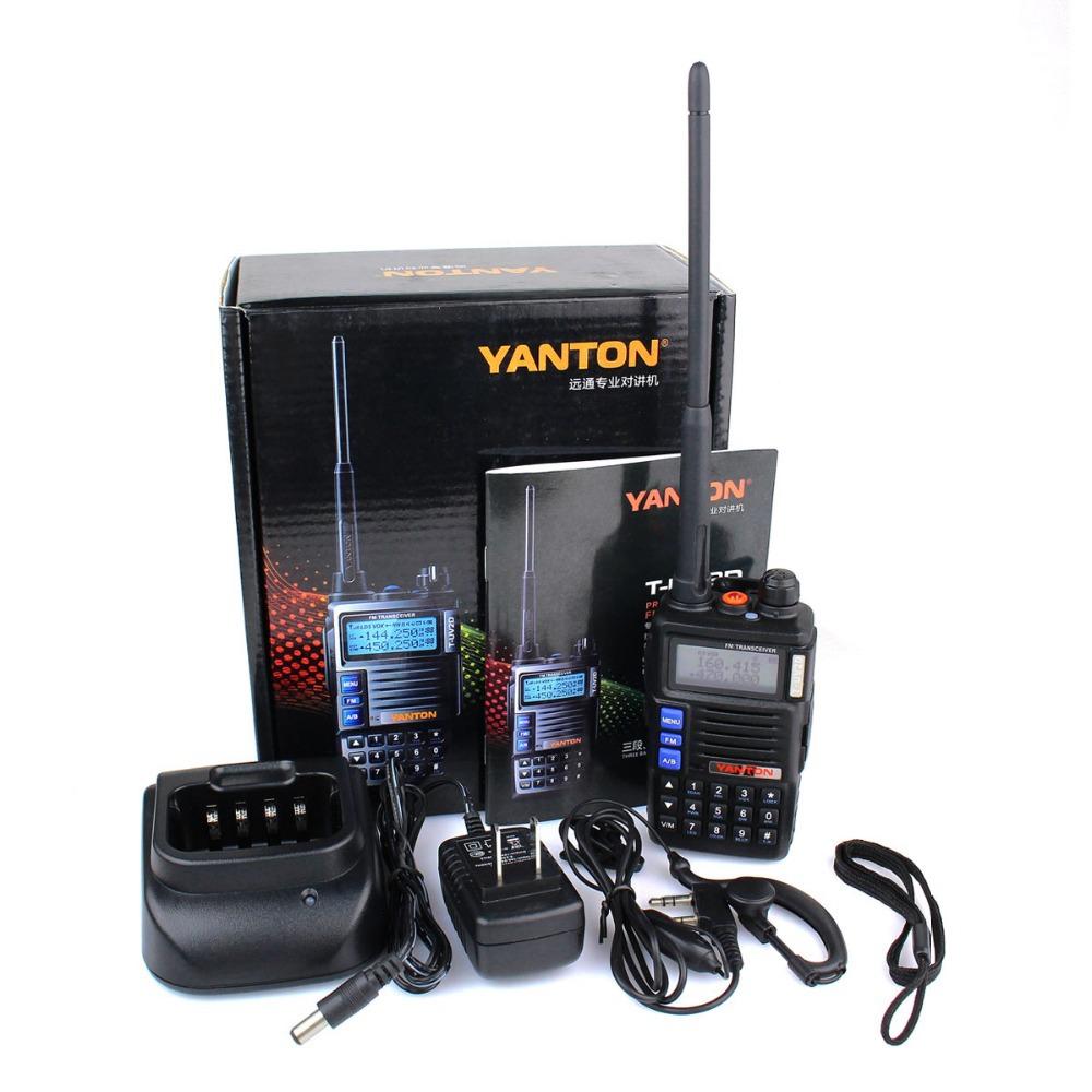 YANTON T-UV2D 136-174MHz&350-390MHz&400-480MHz 8W Three Band Dual Display Dual Standby Handheld Transceiver two way radio A7159A(China (Mainland))