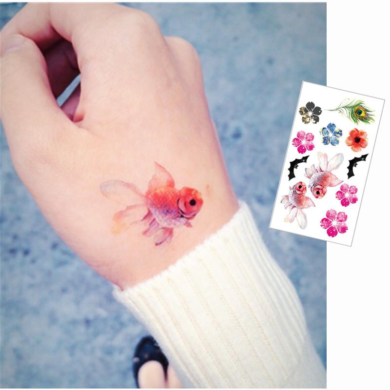 Tatouage petit coeur promotion achetez des tatouage petit for Petit poisson rouge