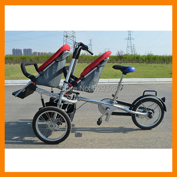 fully folding taga stroller bike for twin(China (Mainland))