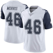 Men's #46 Alfred Morris Elite White Rush Football Jersey 100% stitched(China (Mainland))