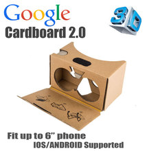 2015 New Google cardboard 2 2.0 Plastic Virtual Reality VR 3D glasses for 3.5-6″ Smart phone Rift Oculus 3D Game Movie APP