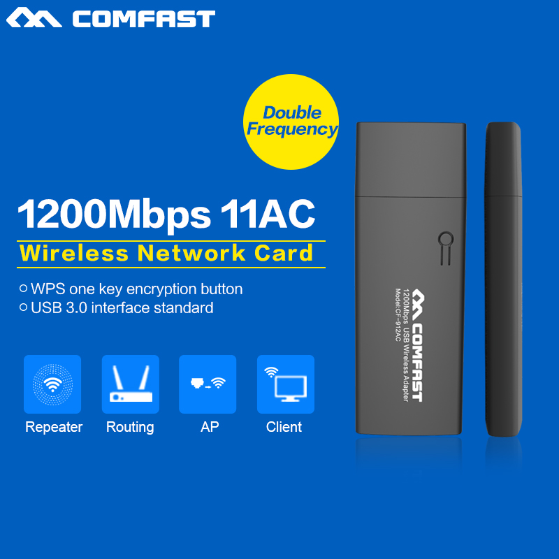 Dual Band Wireless network card 2.4G+5.8G antena wifi usb adapter USB3.0 Wi-Fi Dongle of CD Drive Wi fi Adapter for PC/AC router(China (Mainland))