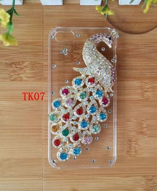 Hot Diamond Handmade Colorful Peacock Hard Plastic Transparent Case Cover For SONY Xperia ray ST18i(China (Mainland))